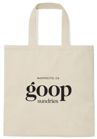 Goop canvas tote bag
