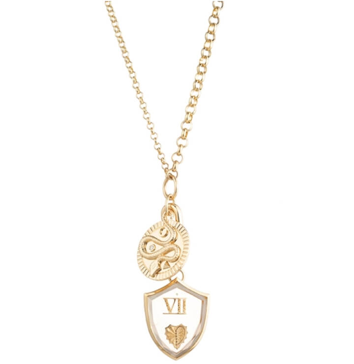 Foundrae Wholeness Medallion and Gemstone Heart Necklace