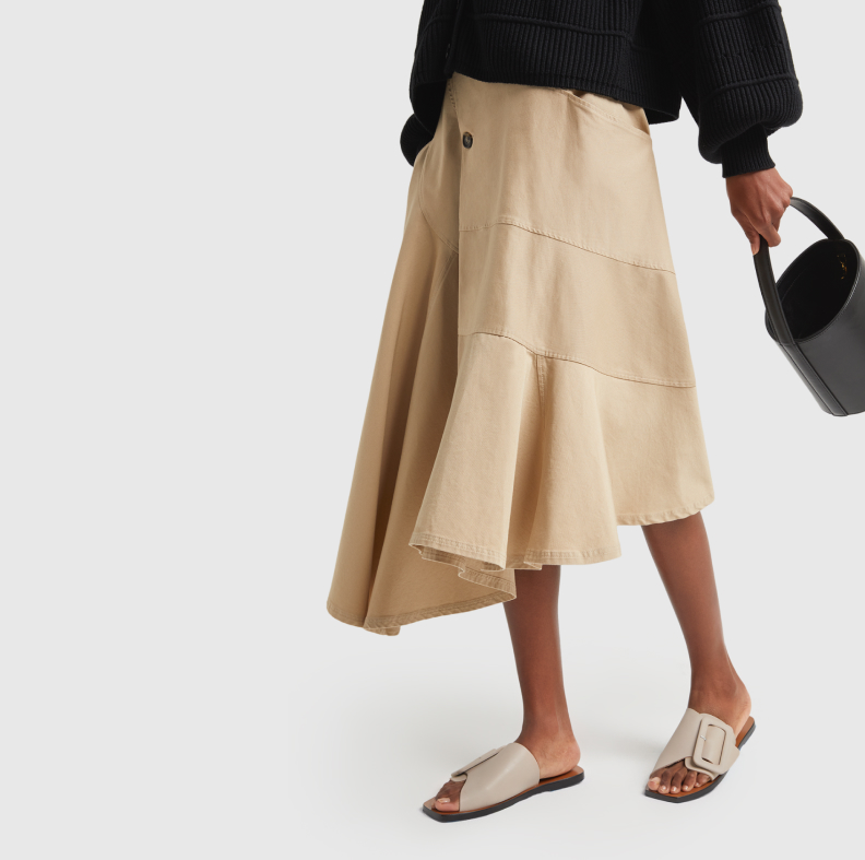 woman in JW ANDERSON SKIRT