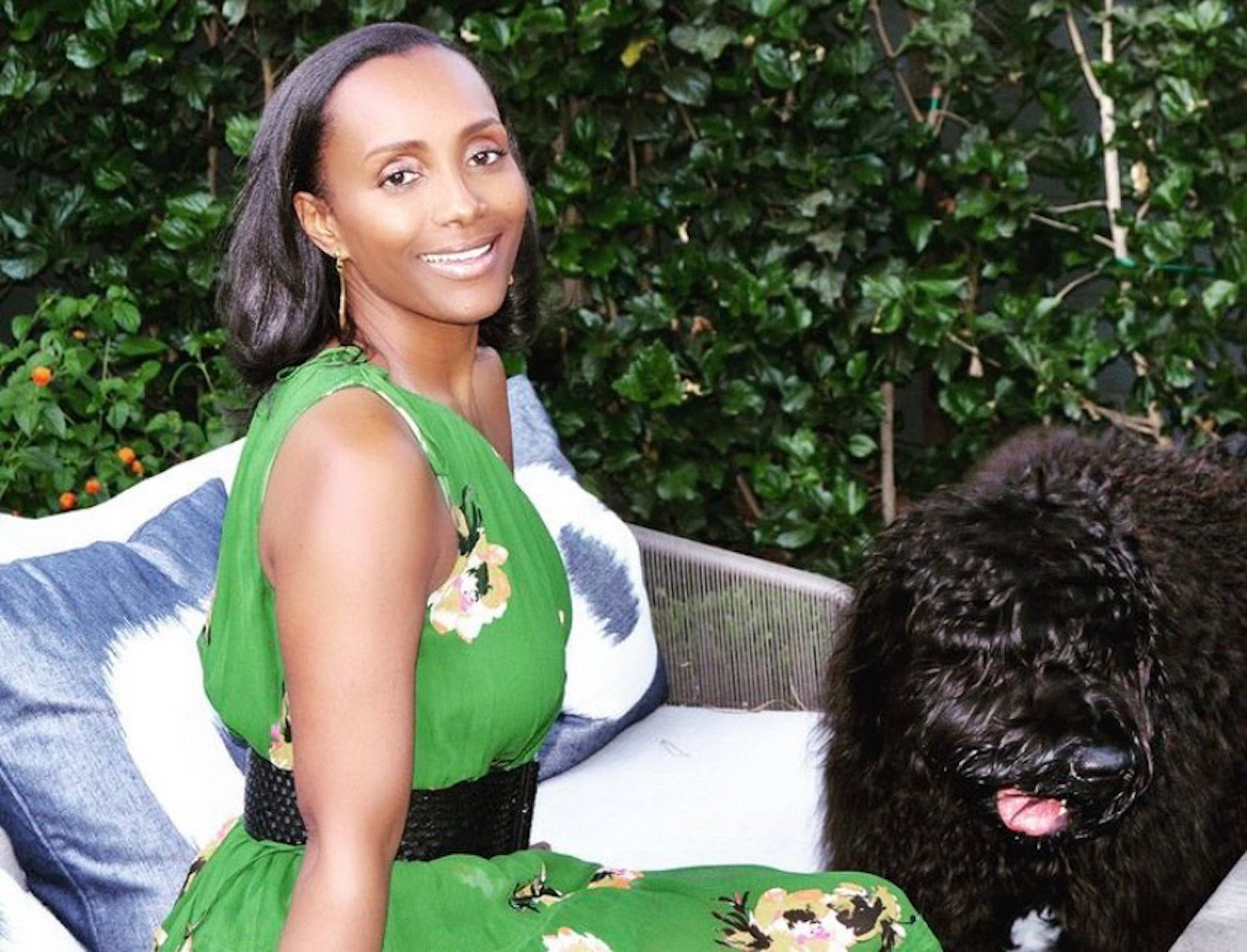Katonya Breaux with her dog
