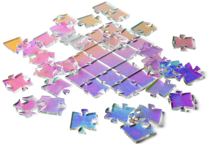 Waves Puzzle WAVES IRIDESCENT PUZZLE goop, $40