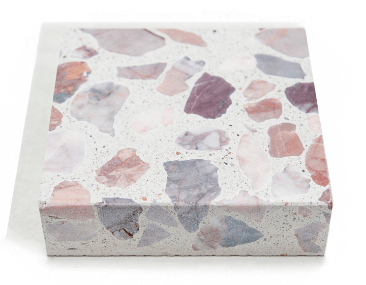 VENICE ALABASTER LARGE PINK CHIP TERRAZZO TILES