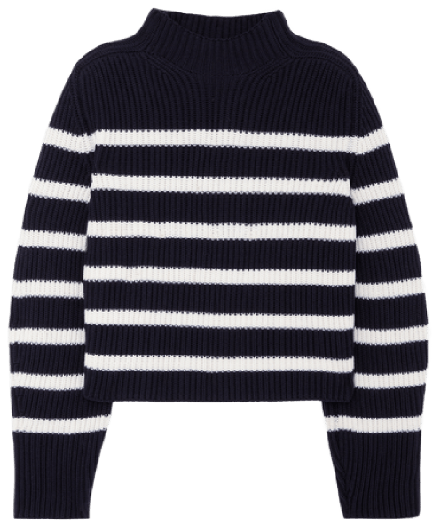 G. Label Lucy Striped Funnel-neck sweater, goop, $595