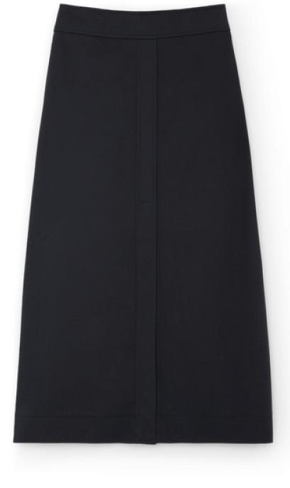 G. LABEL Stewart A-line cotton skirt, goop, $495