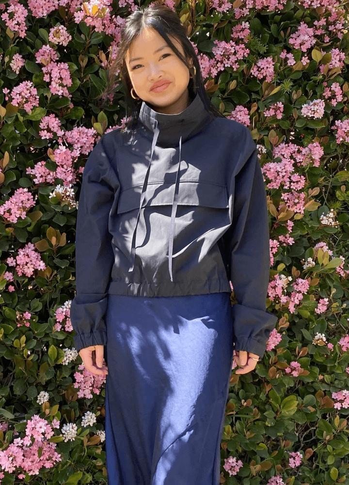 Amanda Chung in G. Label Sydney Anorak
