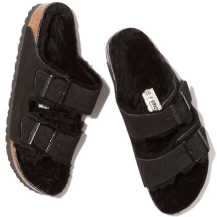 Birkenstock Arizona shearling-lined