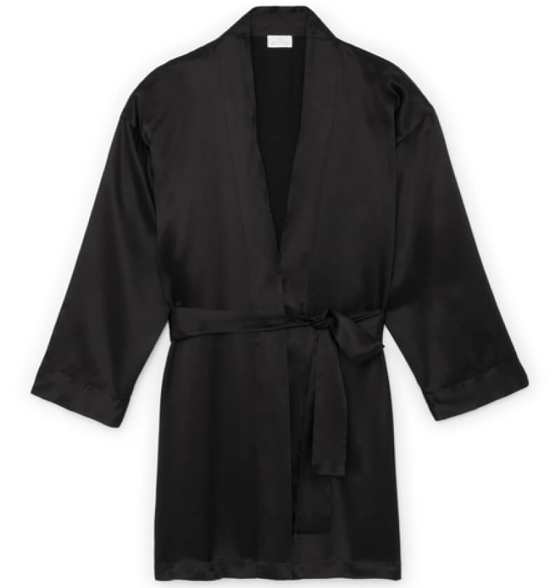 Pour Les Femmes silk robe