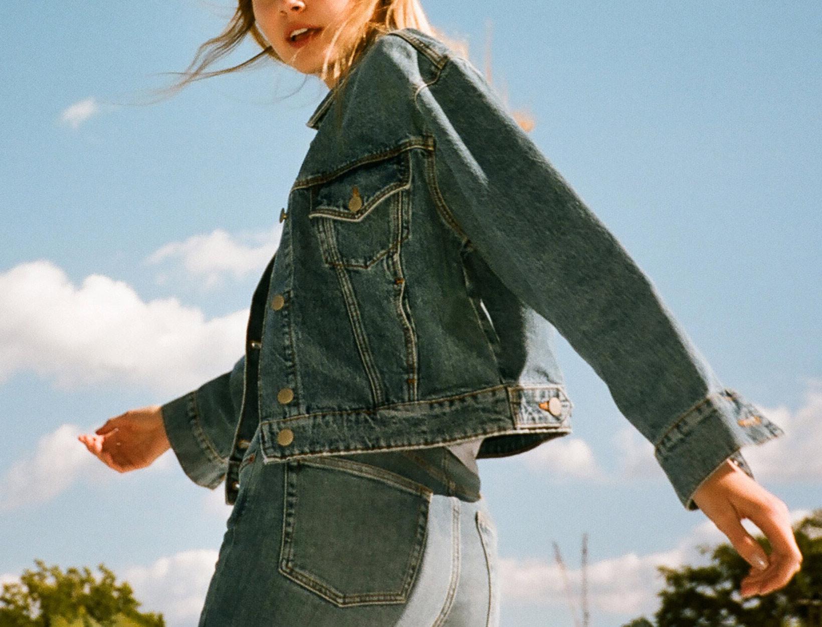 woman in a jean jacket