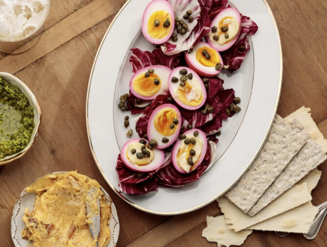 brandtktk Beet-Pickled Deviled Eggs
