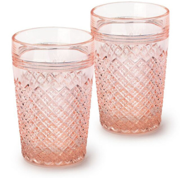 Mosser Glass PINK GLASSE TUMBLER, SET OF 4
