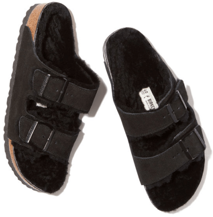 Birkenstock Arizona shearling-lined goop, $145