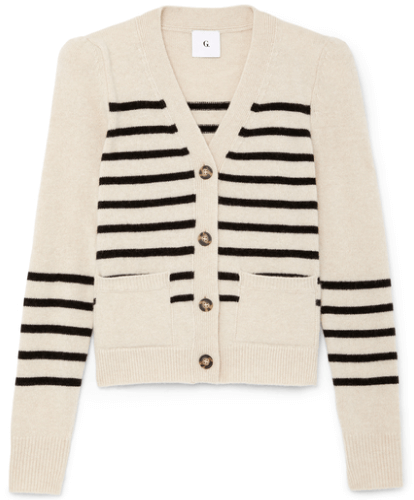 G. KIRSTIE CARDIGAN WITH PUFFED SLEEVES