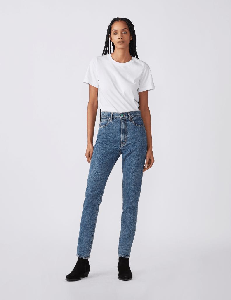 Woman wearing SLVRLAKE jeans