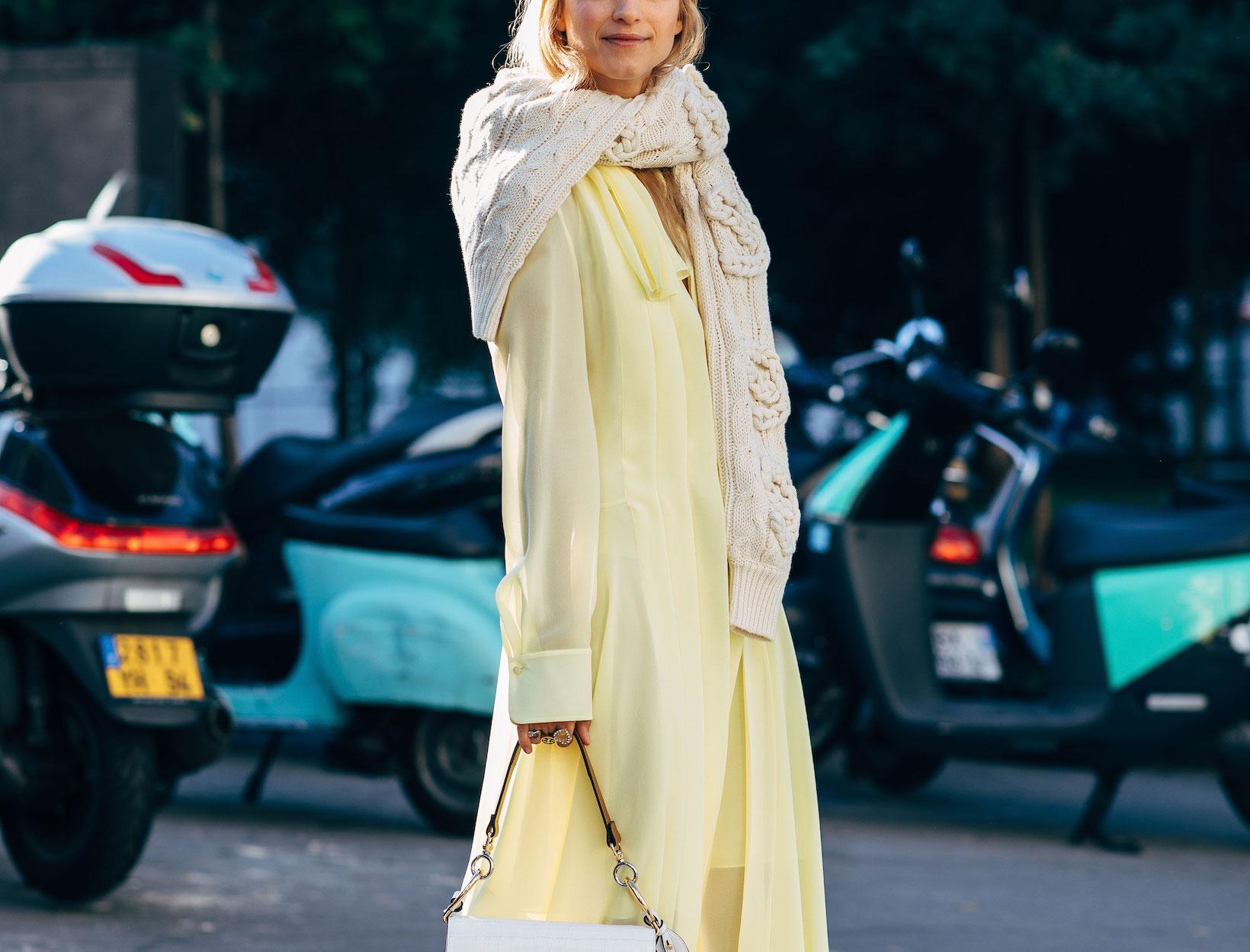 woman wearing a yellow dress