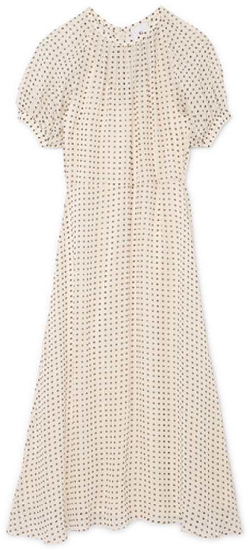 G. Label Thompson Puff-Sleeve Dress