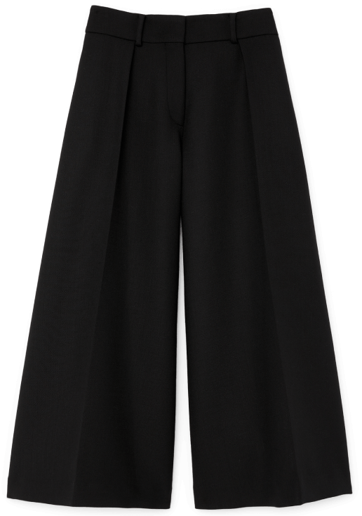 G. Label Caleb Wide-Leg Pleated Culottes goop, $495