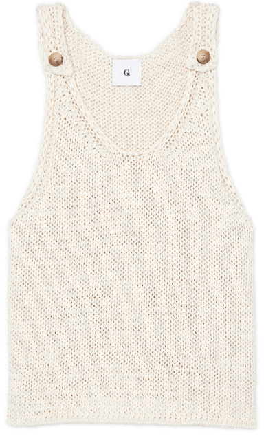 G. LABEL CARRIE CHUNKY KNIT TOP WITH BUTTONS, GOOP, $ 225