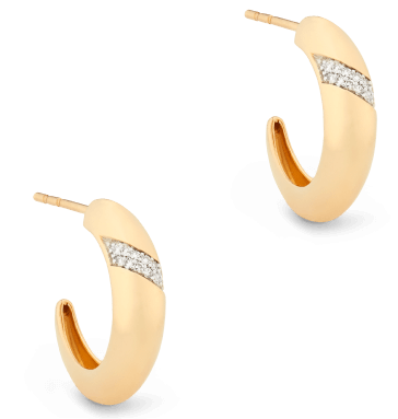 GOOP X MEJURI PAVÉ DIAMOND DÔME HOOPS, goop, $650