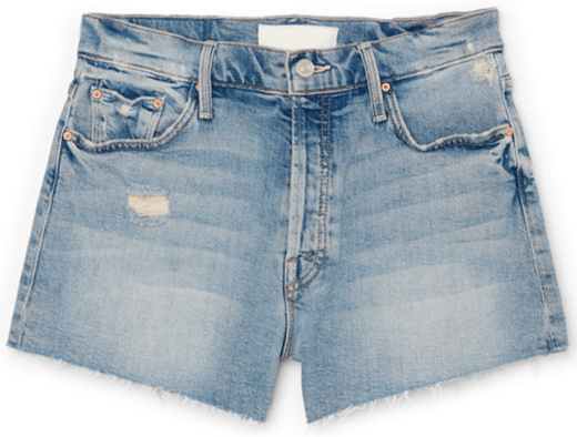 Mother The Tomcat Kick Fray Shorts, goop, $228