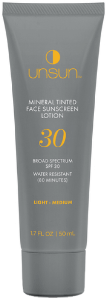 Unsun Tinted Mineral Face Sunscreen