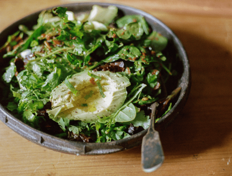 Fresh Leafy Kimchi Salad