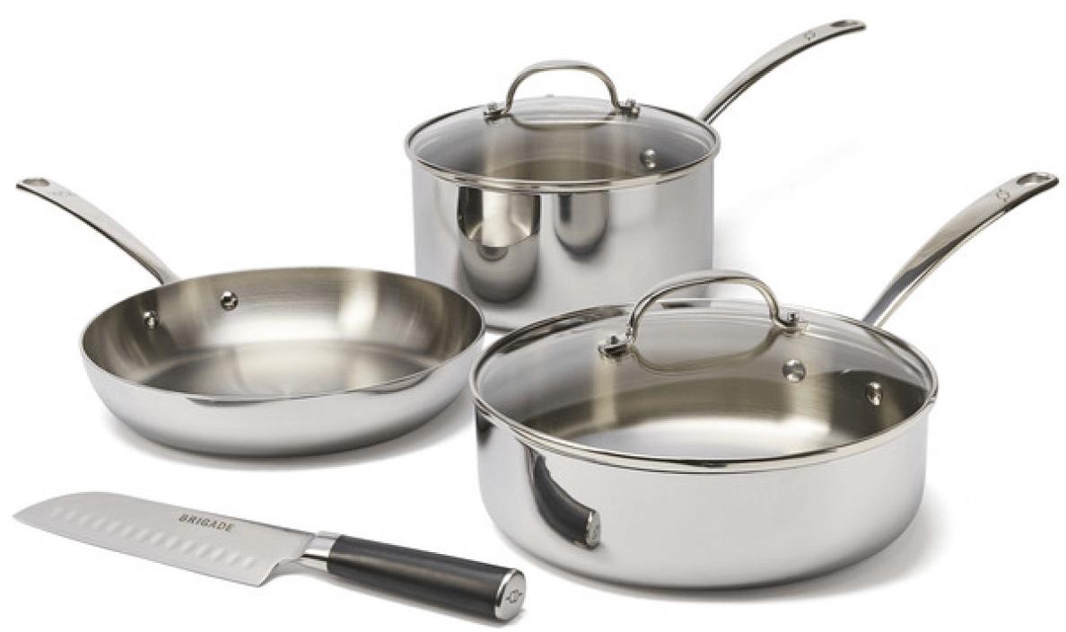 Brigade Kitchen Stainless Steel Cookware 4-Piece Set