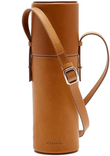 Jil Sander leather Flask case