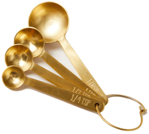 Farmhouse Pottery Stowe Measuring Spoons, goop, $48