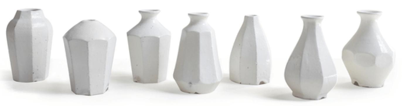Roman and Williams Guild Hitoshi Kato Kohiki Facet Vase