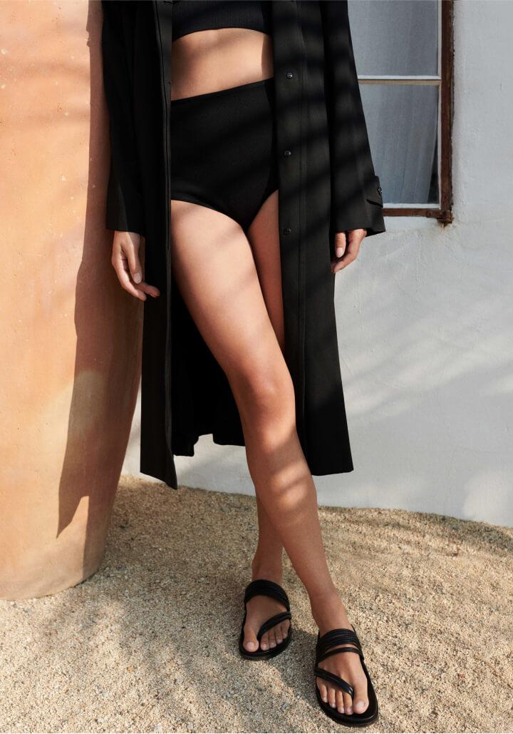 model in Emme Parsons sandal