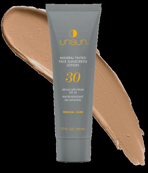 Unsun tinted face sunscreen goop, $29