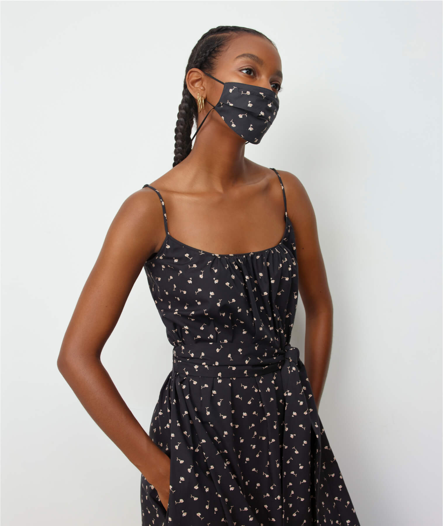 woman wearing G Label Ralphie Skinny Strap Dress