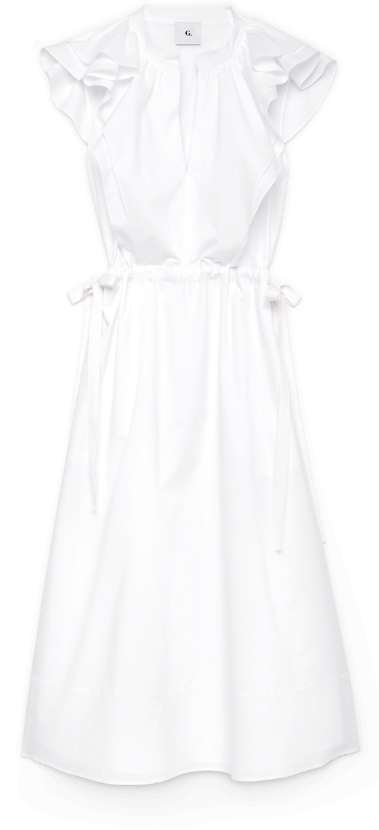 G Label Connie Midlength Ruffle Dress