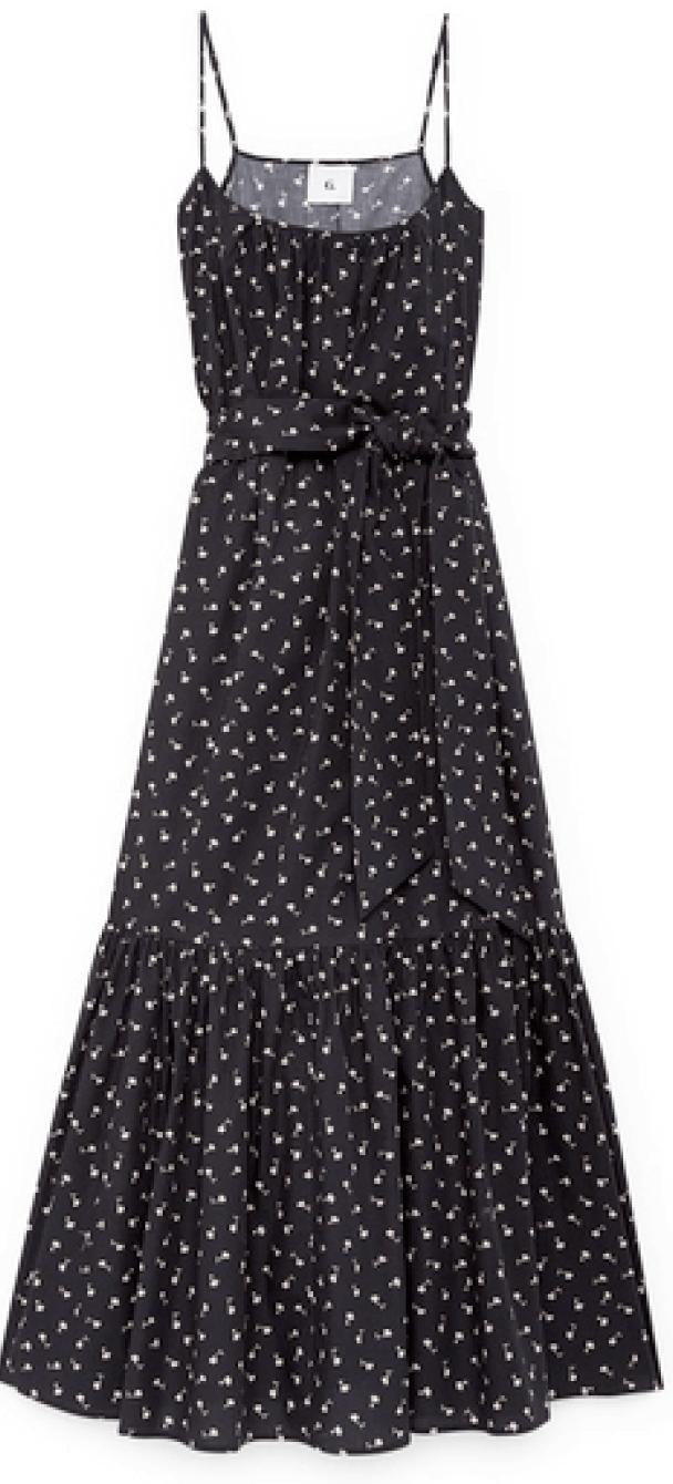 G. Label Ralphie Skinny-Strap Tiered Dress