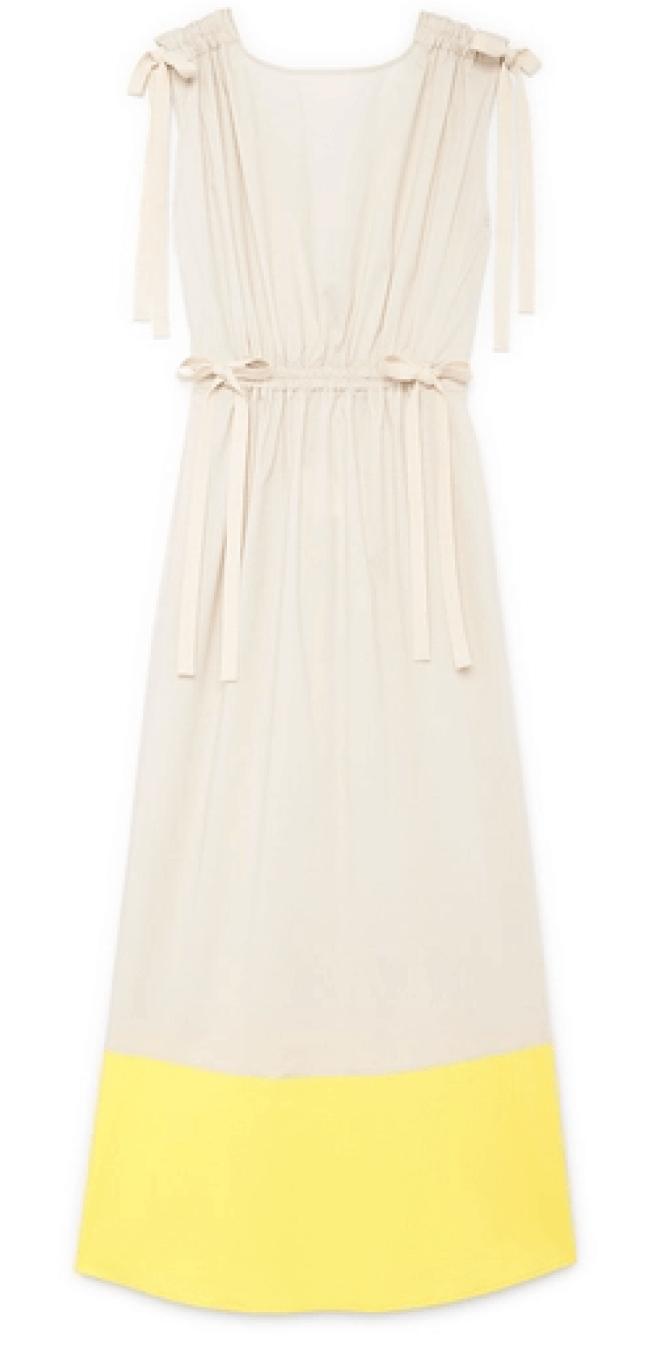 G. Label Elisa Midlength Drawstring-Waist Dress