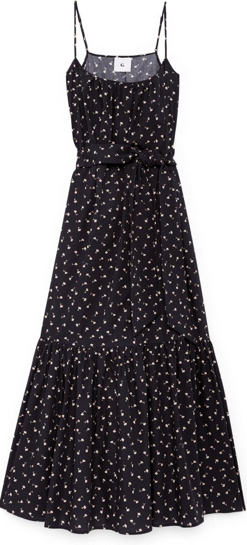 G Label Ralphie Skinny-Strap Tiered Dress