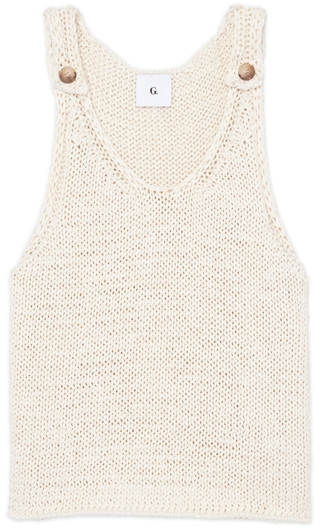 G. Label Carrie Chunky-Knit Top goop, $225