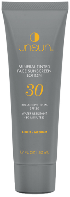 Unsun Mineral Tinted Face Sunscreen SPF 30