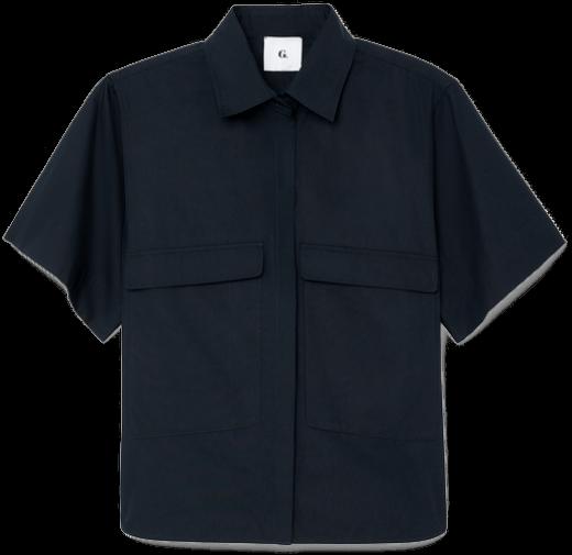 G. Label Blau Button-Up Top goop, $325