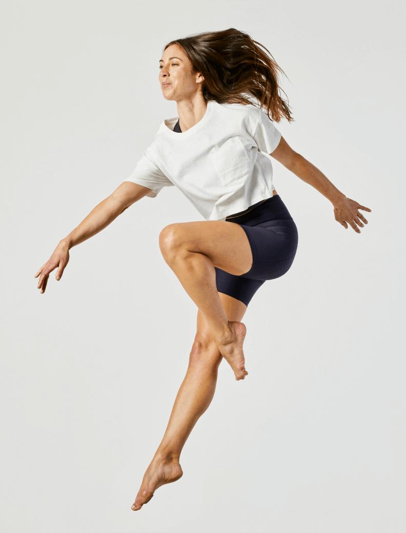 Bonnie Crotzer doing a midair pose