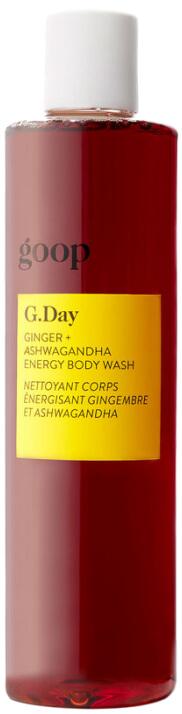 goop Beauty G.DAY Ginger + Ashwagandha Energy Body Wash, goop, $32
