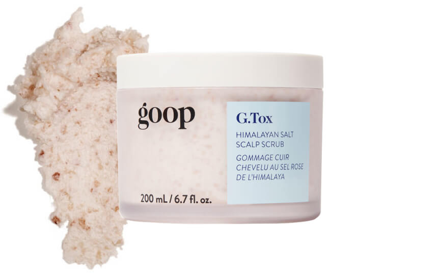 goop Beauty G.Tox Himalayan Salt Scrub Shampoo, goop, $42