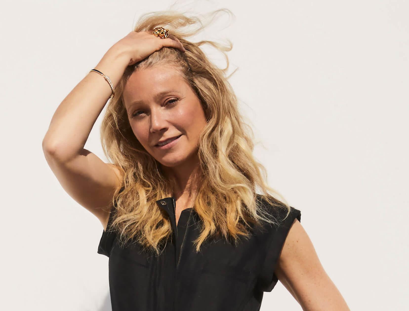 Gwyneth with beachy hair