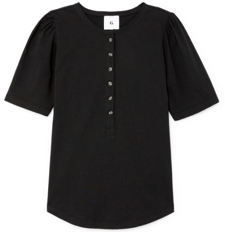 G.Label Karmanos Organic Cotton Puff-Sleeve Henley
