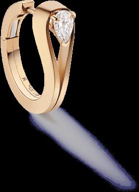 Repossi single hoop earring