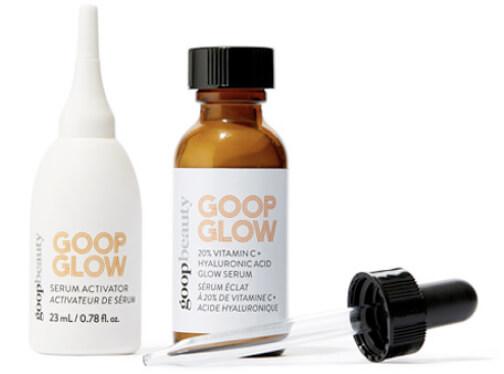 goop Beauty GOOPGLOW 20% Vitamin C + Hyaluronic Glow Serum goop, $125/$112 with subscription