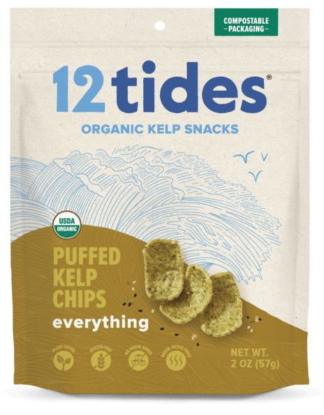 12 Tides Puffed Kelp Chips Everything