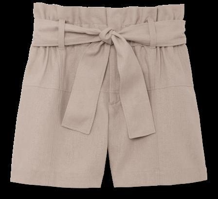 G. Label Carpenter Paper-Bag-Waist Shorts