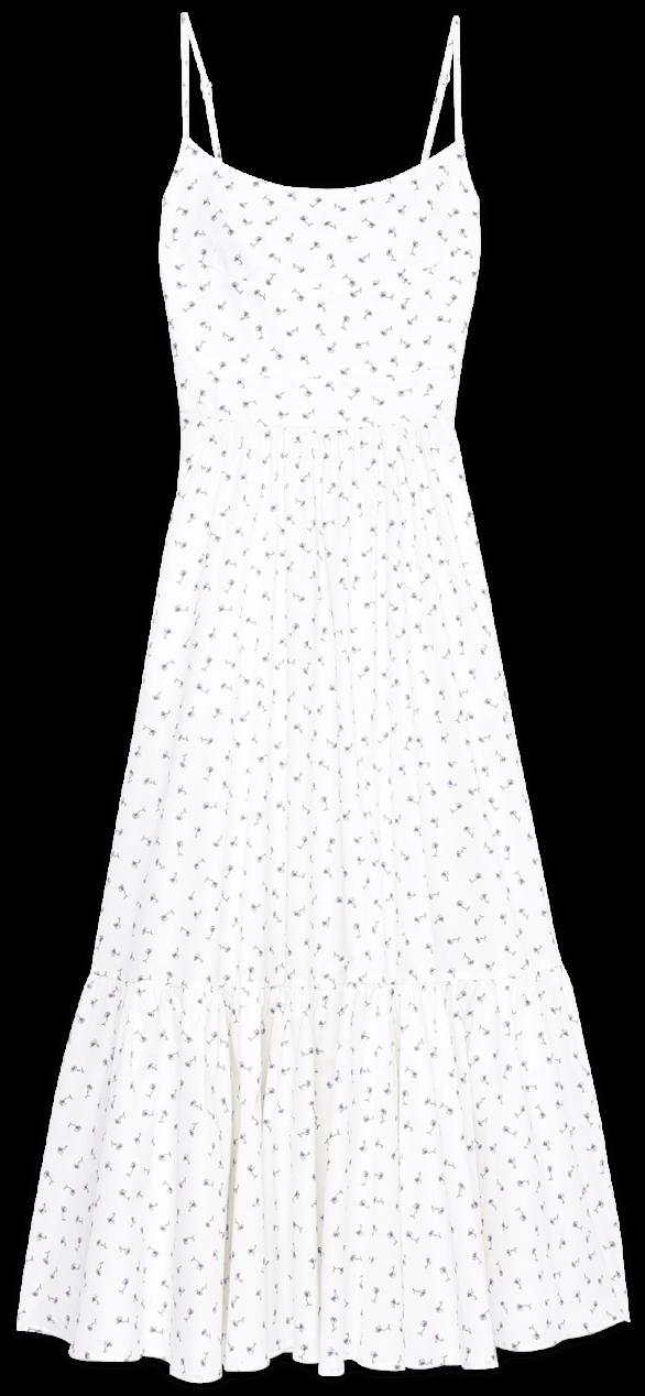G. Label Theodora Tea-Length Bustier Dress goop, $525