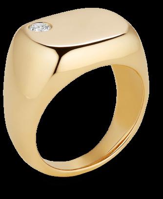 Sydney Floating Diamond Pinky Ring G. Label, $1,300